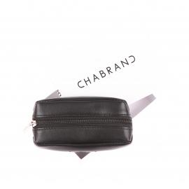 Porte-monnaie zippé Chabrand en cuir noir