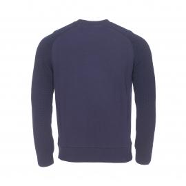 Sweat col rond S-Togs Chevignon bleu marine à manches et col tricotés et brodé Togs