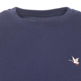 Tee-shirt col rond T-Togs Chevigon en coton bleu marine