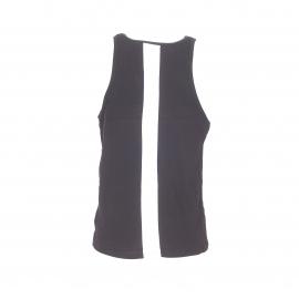 Débardeur Calvin Klein en coton noir à bande blanche au dos