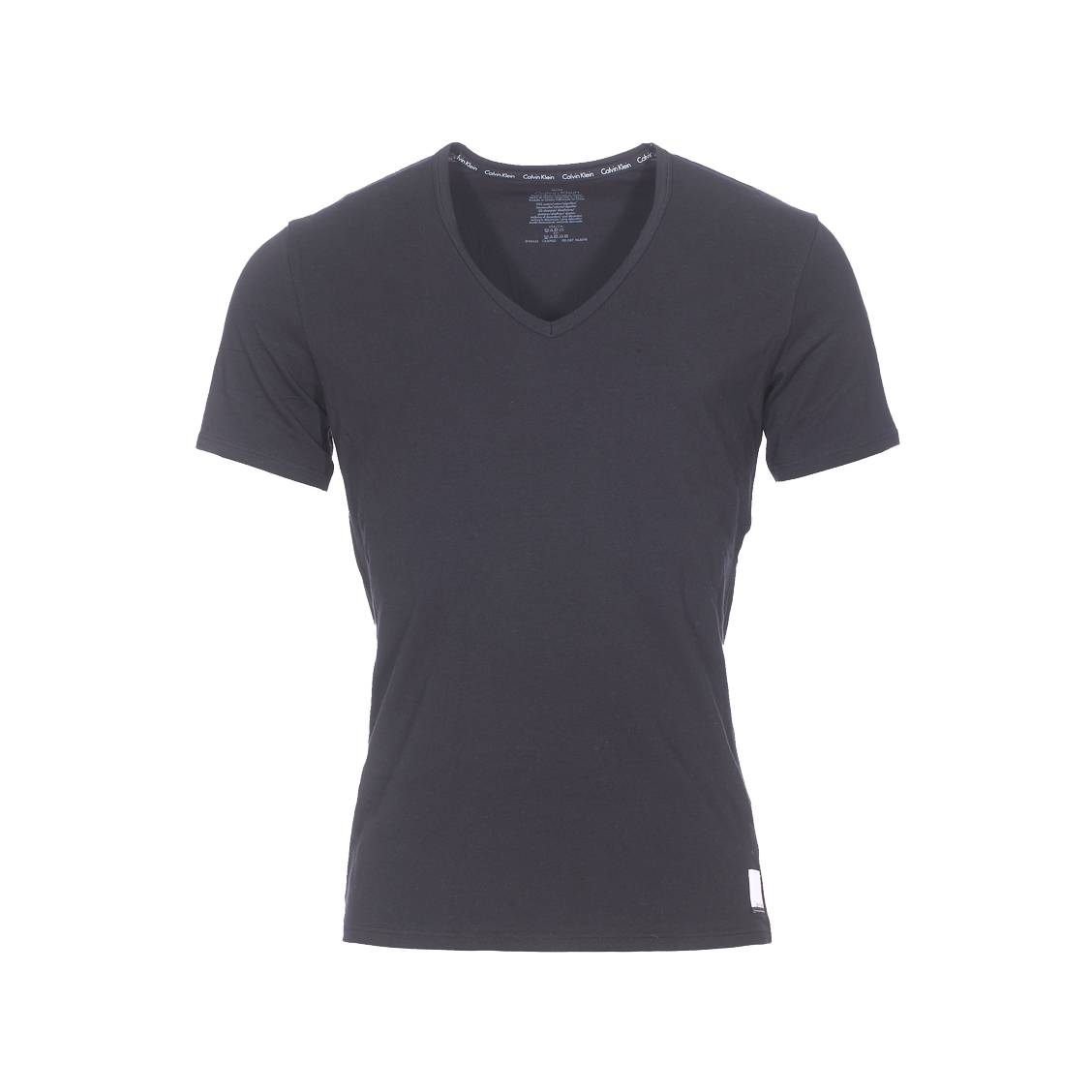lot de 2 tee shirts col v calvin klein en coton stretch. Black Bedroom Furniture Sets. Home Design Ideas