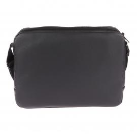 Besace Calvin Klein Jeans Col 3 en simili cuir noir à bandes grises