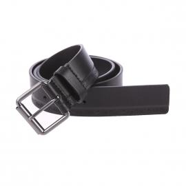 Ceinture Calvin Klein Jeans Arthur en cuir noir, petit boucle arrondie