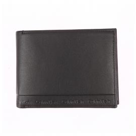 Portefeuille italien Calvin klein Jeans Arthur en cuir lisse noir