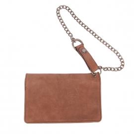 Portefeuille Dickies en cuir chocolat avec chainette