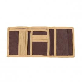 Portefeuille Dickies en tissu chocolat et beige