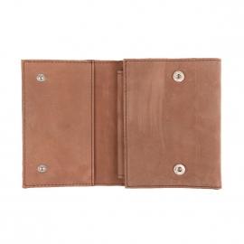 Portefeuille européen Dickies Owendale en cuir suèdé marron clair