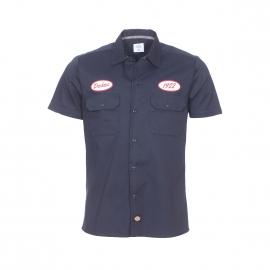Chemise manches courtes Dickies bleu navy brodée de patch