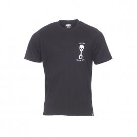 Tee-shirt col rond Dickies Turrell en coton noir à imprimé tête de mort