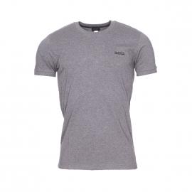 Tee-shirt col rond Diesel 100% coton gris foncé à bordures côtelées