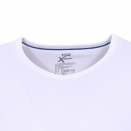 Lot de 2 tee-shirts col V Dim X-temp en coton stretch blanc