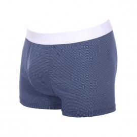 Boxer Dolce&Gabbana en coton bleu à motifs géométriques blancs et bleu marine