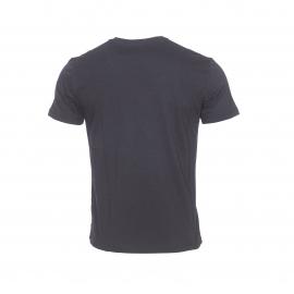 Tee-shirt col rond  EA7 noir floqué en blanc