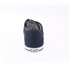 Baskets EA7 en toile bleu marine