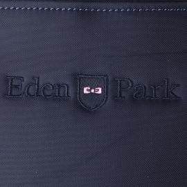 Sacoche plate Eden Park en toile bleu marine