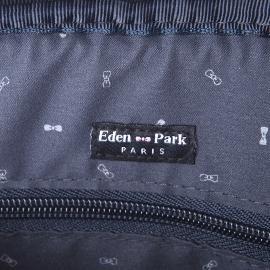 Sacoche plate Eden Park en toile noire