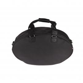 Sac de voyage Eden Park en toile et cuir noir format ovale