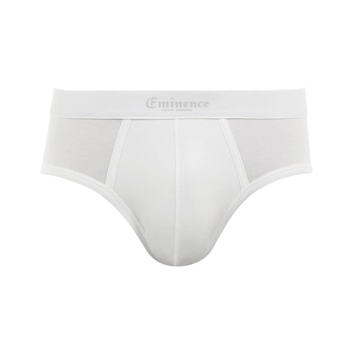 Slip taille basse Chic Eminence en jersey de coton stretch blanc à ceinture brodée