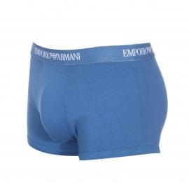 Lot de 3 boxers Emporio Armani à rayures rouges et blanches, rouge uni et bleu pétrole uni