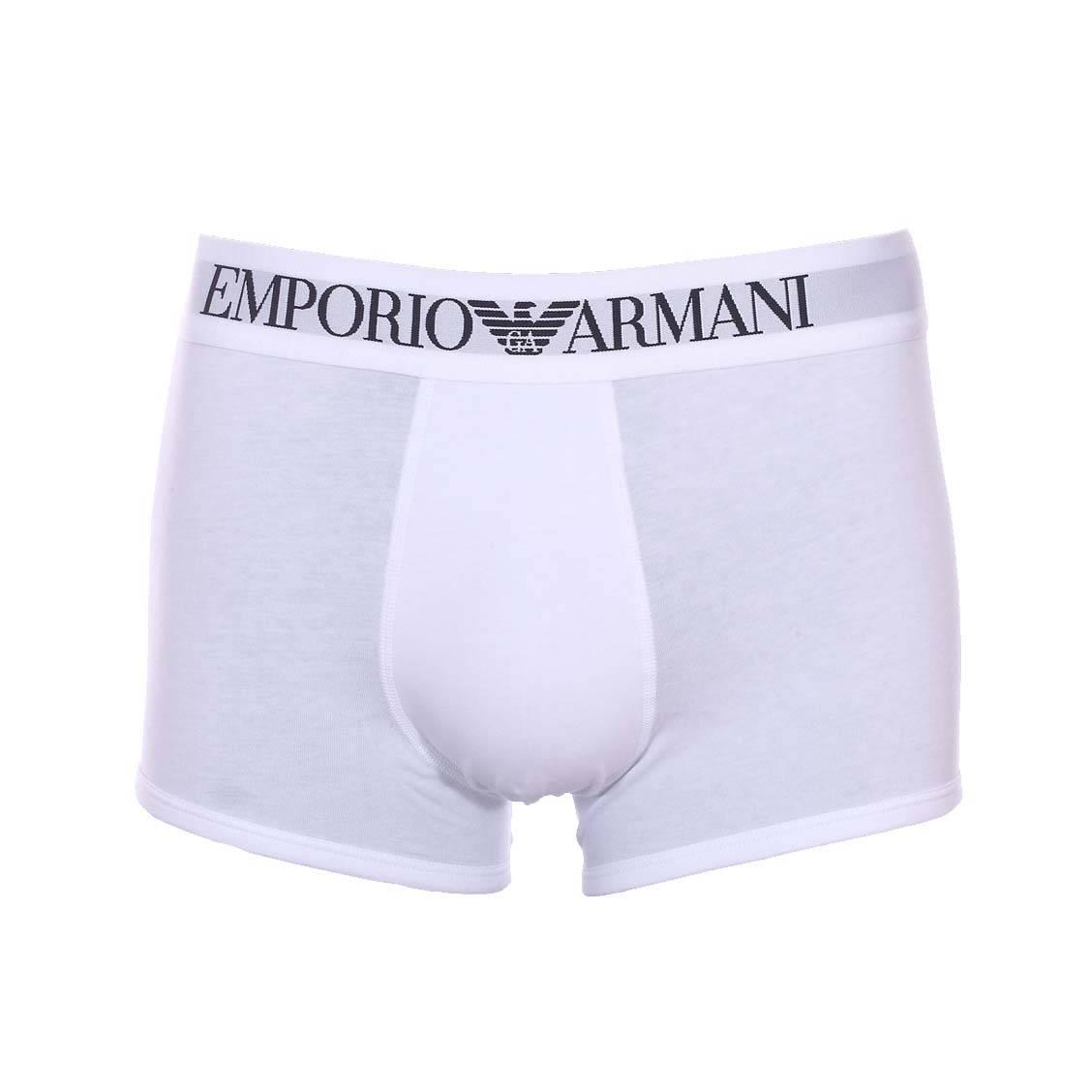 Boxer Emporio Armani Blanc en coton stretch   Rue Des Hommes ad55708de62
