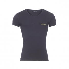 Lot de 2 tee-shirts col V en coton stretch gris et noir