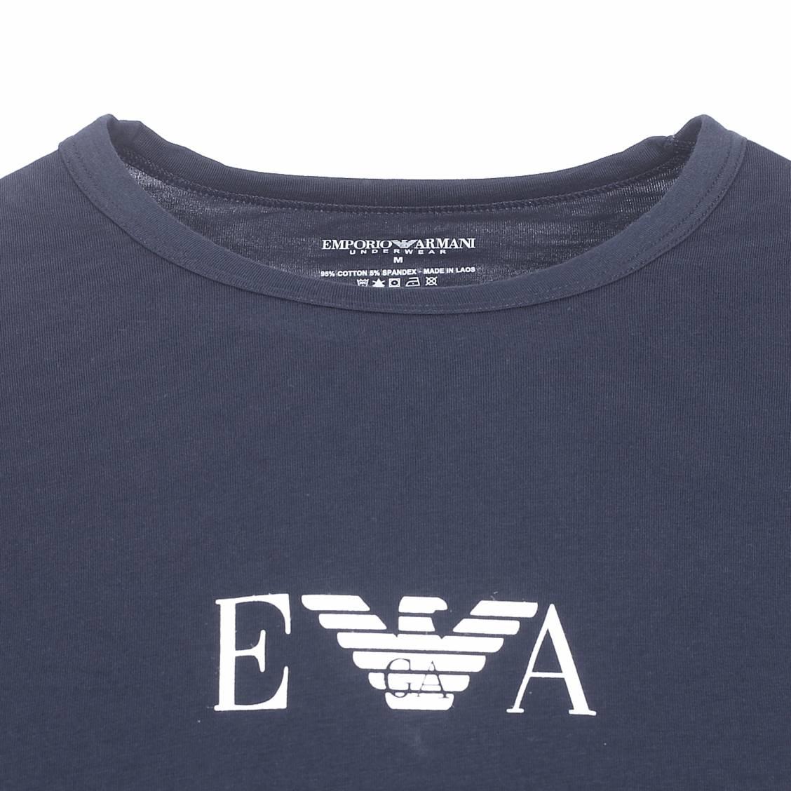 Emporio De Tee Col Lot Shirts Floqué Du Marine Rond Bleu 2 Armani YqSqwd1