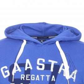 Sweat à capuche Gaastra en coton mélangé bleu roi floqué