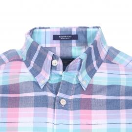 Chemise droite Gant en coton à carreaux roses, bleus, blancs et verts