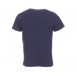 Tee-shirt col rond Gant en coton bleu marine floqué