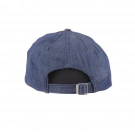 Casquette Gant en coton en jean bleu indigo