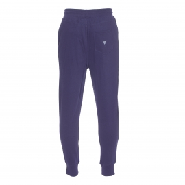 Pantalon de jogging Guess en coton bleu marine