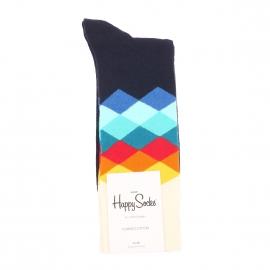 Chaussettes Happy Socks en coton bleu marne à losanges multicolores