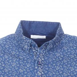 Chemise cintrée Felix Harris Wilson en coton bleu indigo à fleurs