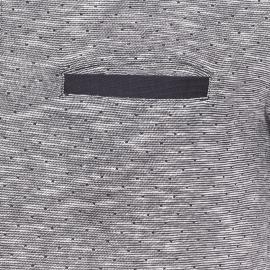 Polo Bobby Harris Wilson en coton bleu marine et écru chiné à motifs carrés