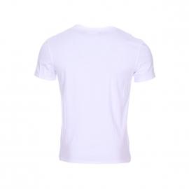 Tee-shirt col rond Boss Harris Wilson en coton blanc sérigraphié