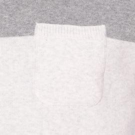 Pull col rond Danilo Harris Wilson en coton bicolore gris chiné et écru
