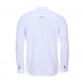 Chemise droite Hilfiger Denim bleu ciel à rayures blanches
