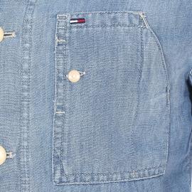 Veste légère Hilfiger Denim en coton et lin, effet jean