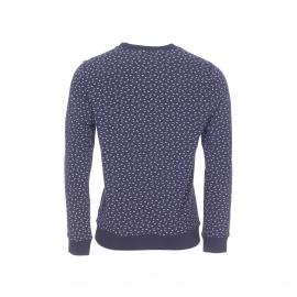 Sweat col rond Hilfiger Denim en coton bleu denim à motifs géométriques