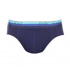Lot de 2 slips ouverts HO1 Hom en coton stretch bleu électrique et bleu marine
