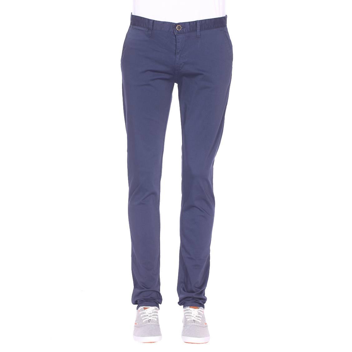 Pantalon cintré Izac Teroy bleu marine