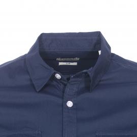 Chemise cintrée Kaporal bleu marine floquée dans le dos