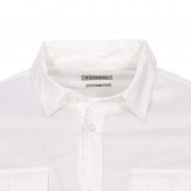 Chemise cintrée Kaporal blanche floquée dans le dos