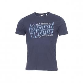 Tee-shirt col rond Kaporal bleu marine floqué Kaporal Jeans en bleu jean