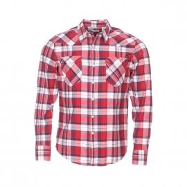 Chemise droite Levi's Barstow Western à carreaux rouges, blancs et bleu marine