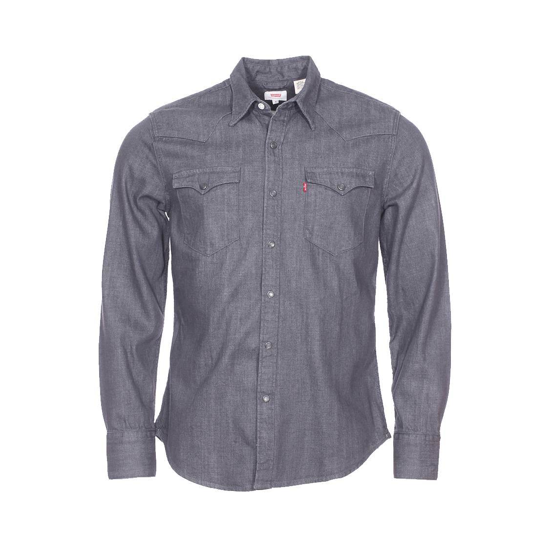 chemise en jean levi 39 s barstow western gray rinse rue. Black Bedroom Furniture Sets. Home Design Ideas