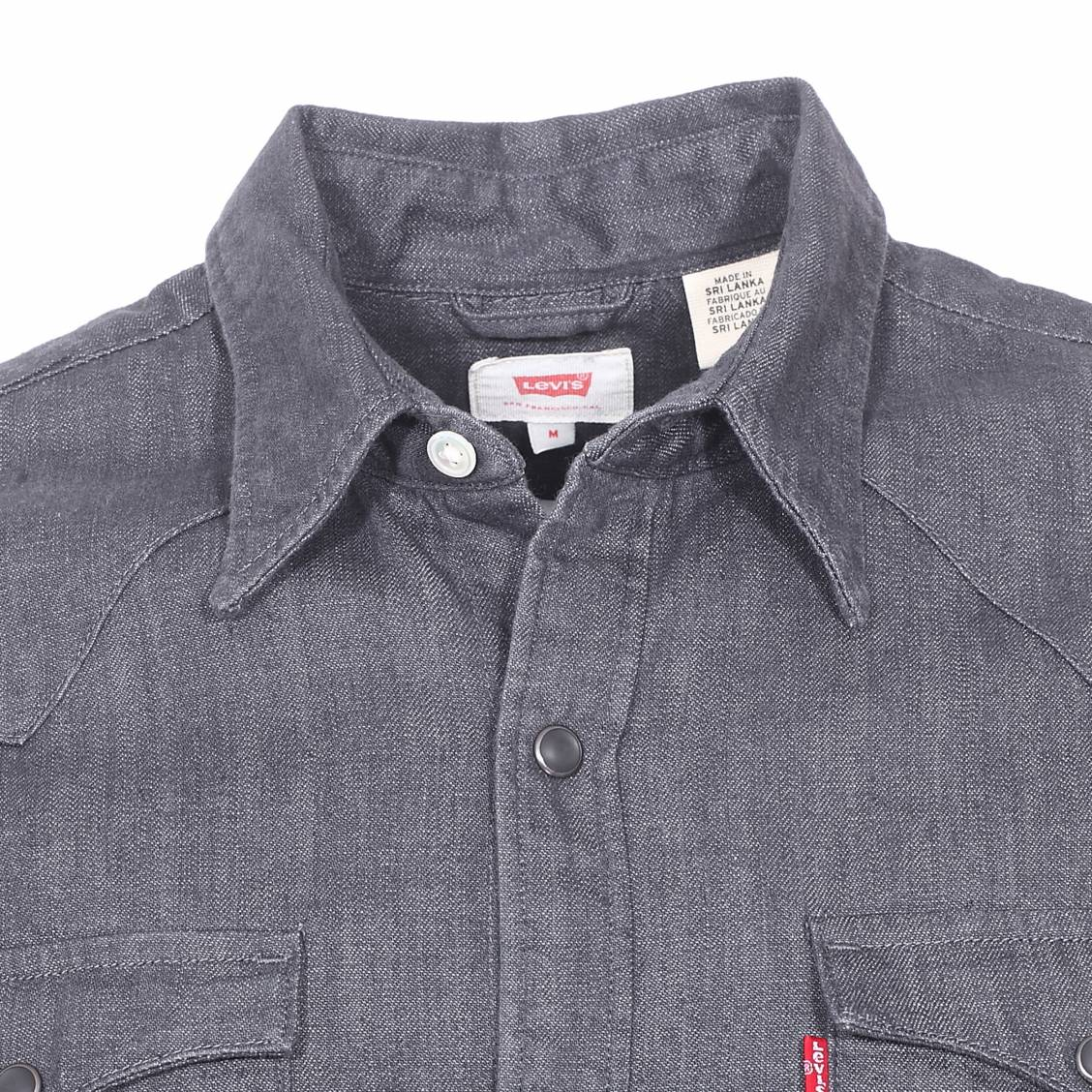 chemise en jean levi 39 s barstow western gray rinse rue. Black Bedroom Furniture Sets. Home Design Ideas