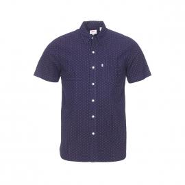 Chemise manches courtes Levi's Sunset one pocket bleu nuit à petits motifs