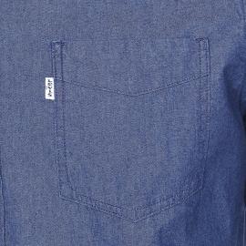 Chemise droite Levi's Sunset one pocket en chambray bleu indigo