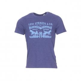 Tee-shirt col rond Levi's 2 Horse Graphic bleu foncé chiné